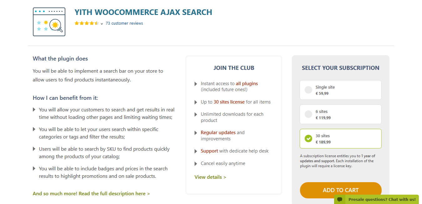 YITH WooCommerce Ajax Search Premium 1.7.20